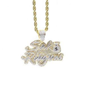 Other - Gold Finish Lab Diamond SAK RELIGIONS Charm Chain